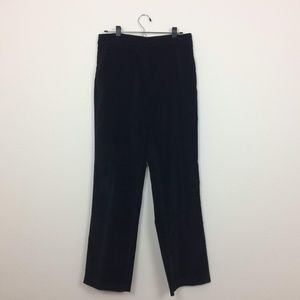 Talbots Black Stretch Velvet Wide Leg Pants